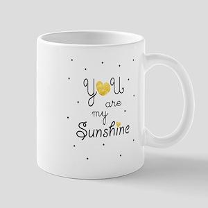 You Are My Sunshine Gold Mugs