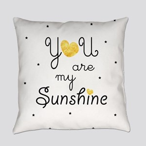 You are my sunshine - gold Everyday Pillow