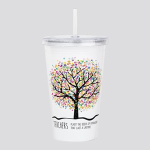 Teacher appreciation q Acrylic Double-wall Tumbler