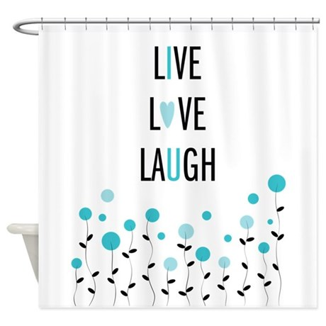 Live Love Laugh Shower Curtain By Bighlittlei