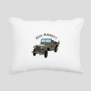 Go Army Rectangular Canvas Pillow