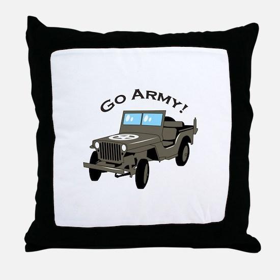 Go Army Throw Pillow