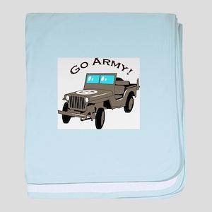 Go Army baby blanket
