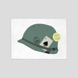 Vietnam Helmet 5'x7'Area Rug