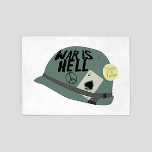 War is Hell 5'x7'Area Rug