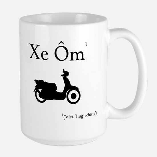 Xe Om (Hug Vehicle) Large Mug
