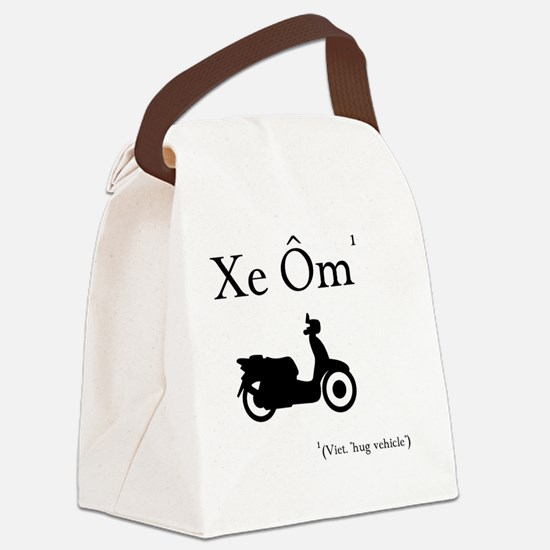 Xe Om (Hug Vehicle) Canvas Lunch Bag