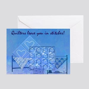 Quliters leave you... Greeting Card