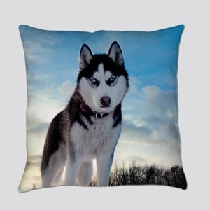 Husky Dog Outdoors Everyday Pillow