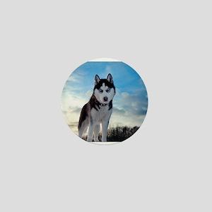 Husky Dog Outdoors Mini Button