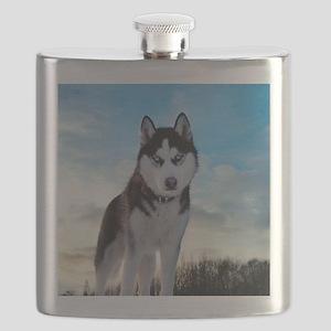 Husky Dog Outdoors Flask