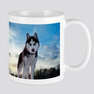 Husky Dog Outdoors Mugs