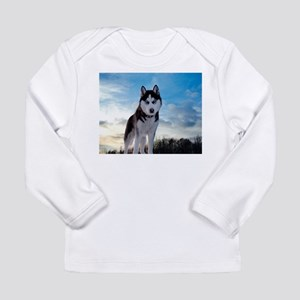 Husky Dog Outdoors Long Sleeve T-Shirt