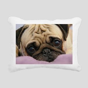 Cute Pug Rectangular Canvas Pillow