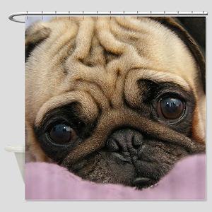 Cute Pug Shower Curtain