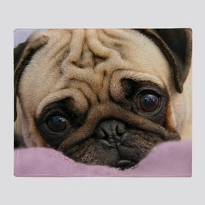 Cute Pug Throw Blanket