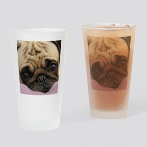 Cute Pug Drinking Glass