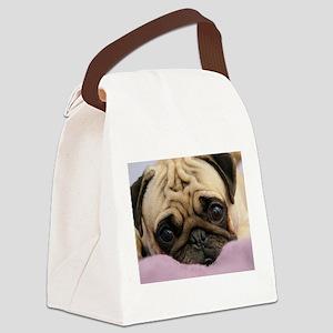 Cute Pug Canvas Lunch Bag