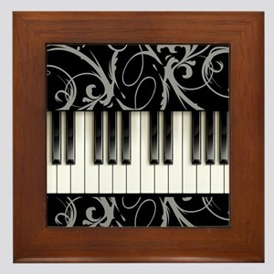 Piano Keyboard Framed Tile