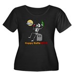 HalloWINO Women's Plus Size Scoop Neck Dark T-Shir