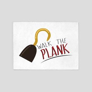 Walk the Plank! 5'x7'Area Rug