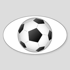 Soccer Ball Sticker (Oval)