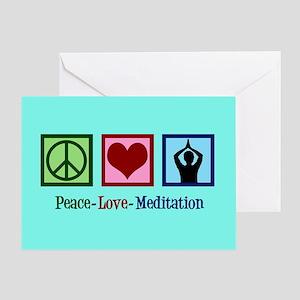 Peace Love Meditation Greeting Card