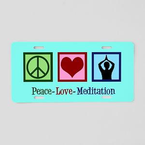 Peace Love Meditation Aluminum License Plate