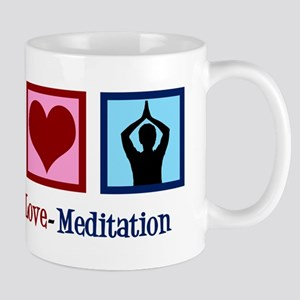Peace Love Meditation 11 oz Ceramic Mug