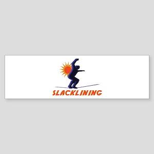 Slacklining Man Bumper Sticker