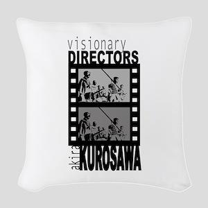 Akira Kurosawa Woven Throw Pillow