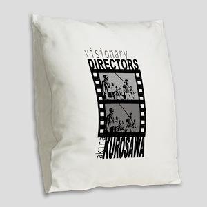 Akira Kurosawa Burlap Throw Pillow