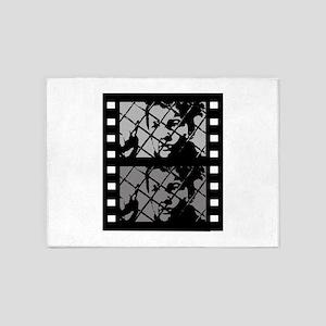 French Cinema Film 5'x7'Area Rug