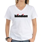 Blindian Women's V-Neck T-Shirt