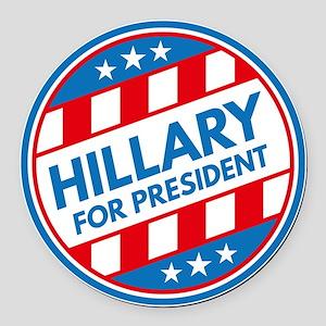 Hillary For President Round Car Magnet