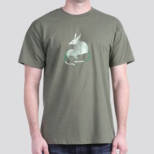 Bilby (green) Macrotis Lagotis Dark T-Shirt