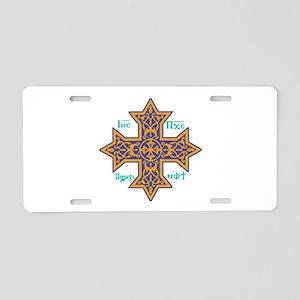 Coptic Cross Aluminum License Plate