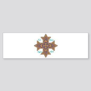 Coptic Cross Bumper Sticker