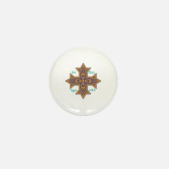 Coptic Cross Mini Button