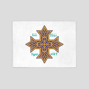 Coptic Cross 5'x7'Area Rug