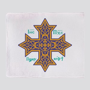 Coptic Cross Throw Blanket