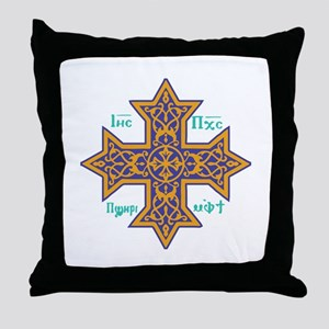 Coptic Cross Throw Pillow
