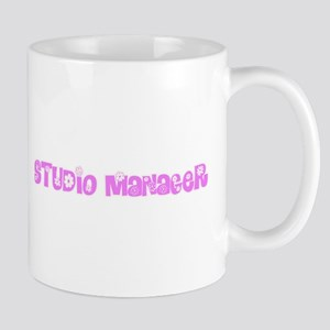 Studio Manager Pink Flower Design Mugs
