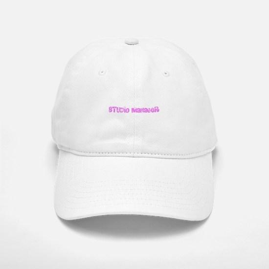 Studio Manager Pink Flower Design Baseball Baseball Cap