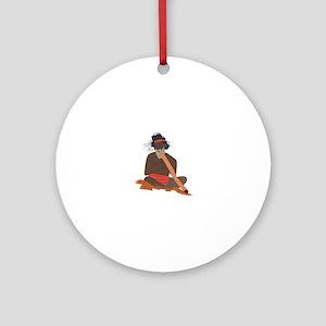 Didgeridoo Player Round Ornament