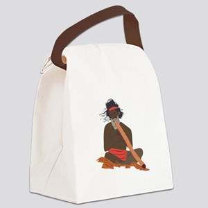 Didgeridoo Player Canvas Lunch Bag