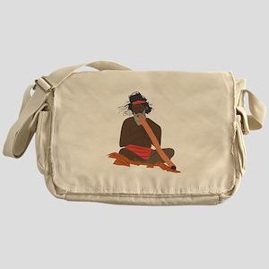 Didgeridoo Player Messenger Bag