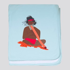 Didgeridoo Player baby blanket