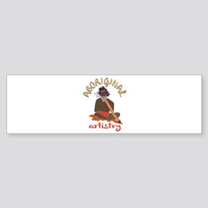Aboriginal Artistry Bumper Sticker