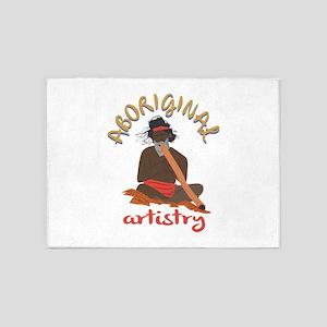 Aboriginal Artistry 5'x7'Area Rug